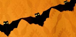 Как сделать гирлянду из летучих мышей на Хэллоуин