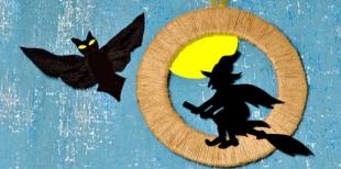 Как сделать настенное украшение на Хэллоуин
