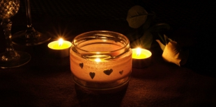Как сделать романтический подсвечник ко Дню Святого Валентина