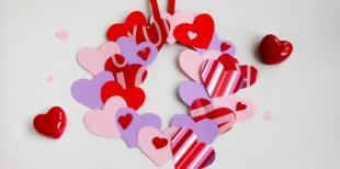 Как сделать веночек из сердечек