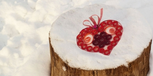 Как сделать ажурное сердечко из гофрокартона ко Дню Святого Валентина