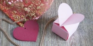 Как сделать коробочку-сердечко
