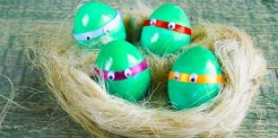 Как покрасить яйца в виде Черепашек-Ниндзя