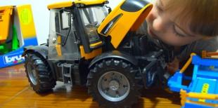 Игра с детьми становится реальнее с трактором