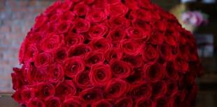 Когда уместен букет из 101 розы