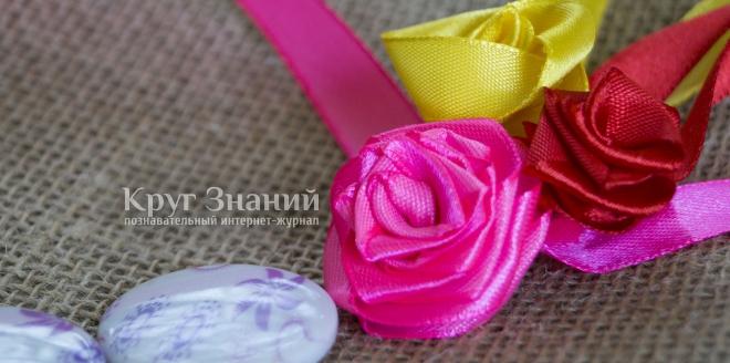 как сделать розу из ленты пошаговая инструкция с фото - фото 7