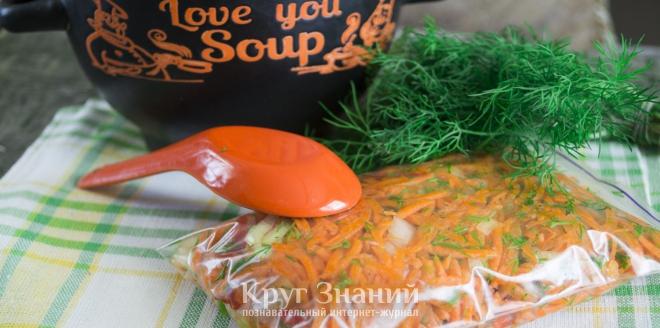 заправка для супов на зиму рецепты