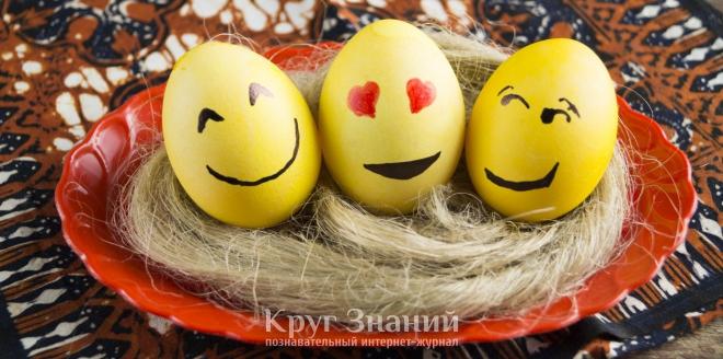 Как сделать пасхальные яйца-смайлы