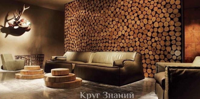 Как сделать пол из спилов дерева в частном доме