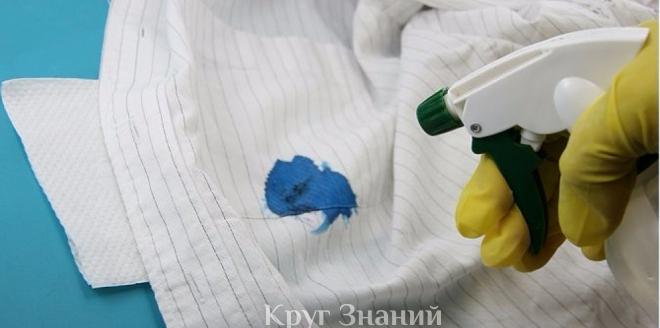 Как вывести пятно от ручки