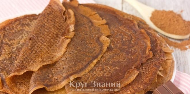 Как приготовить тонкие шоколадные блины