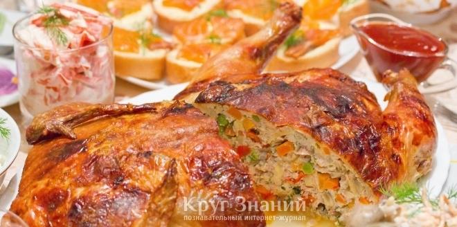 Курица без кости в духовке