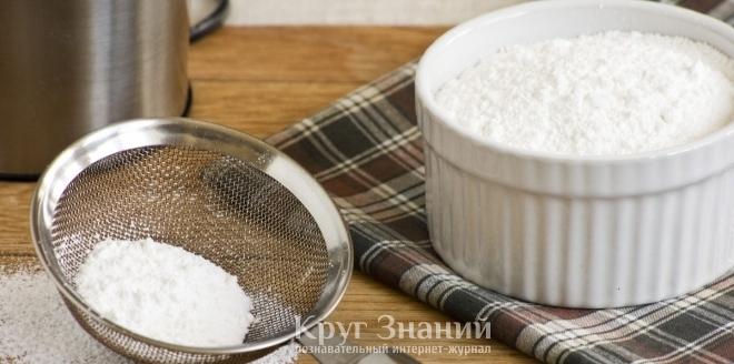 Сахарная пудра своими руками фото